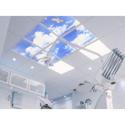 Image panel for energy efficient hospital lighting